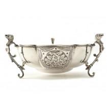 Bombonieră din argint decorată cu Hippocampus | atelier Horace Woodward | Birmingham 1912