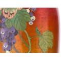 Garnitură de vaze japoneze emailate Shipōyaki cloisonné   manufactură atribuită atelierului Ando Jubei   cca.1920