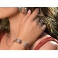 Inedit inel futurist mid-century Me & You | manufactură în argint | bijuterie de autor | Spania