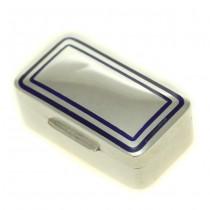 Cutiuță din argint pentru medicamente | argint & email cobalt | anii '50 | Italia