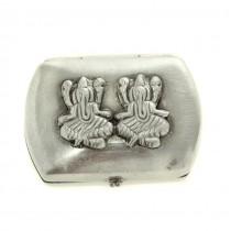 Cutiuță din argint 925, pentru medicamente | Ganesha | British Raj | India