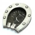 Impresionantă scrumieră din argint | Potcoavă | piesă de artă Mid-Century | Italia | anii '50