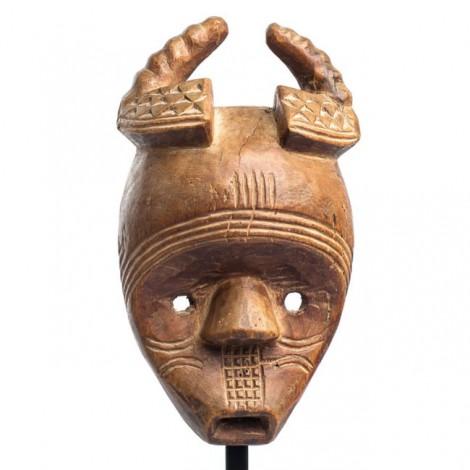 Veche mască ceremonială africană Ekuk | triburile Kwele | Gabon | prima jumătate a secolului XX