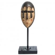 Veche mască ceremonială africană | triburile Lega | Angola | prima jumătate a sec. XX