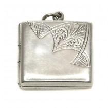 Colier cu pandant locket, în stil Art Deco | argint 925 | Marea Britanie