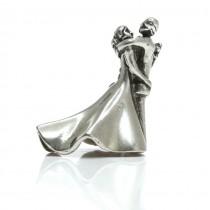 Miniatură din argint redând o pereche de îndrăgostiți | Italia | post-1969