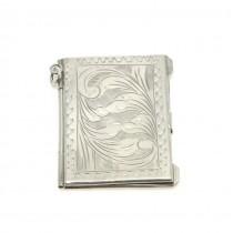 Pandant locket în stil victorian | manufactură în argint | început de secol XX | Marea Britanie