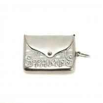 Colier cu pandant locket, din argint, stilizat sub forma unui plic de scrisori | Stamps | Marea Britanie