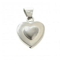 Colier cu pandant romantic modernist | Inimioare | argint | Italia