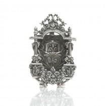 Rafinată ramă foto miniaturală în stil neo-Rococo | argint 925 | Italia | post-1969