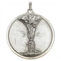 Impresionant pandant mid-century | Pocalul iubirii | manufactură în argint | Italia | cca.1950