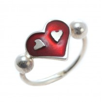 Inel romantic design contemporan | argint & email champlevé | Franța