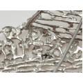 Broșă cu inedit design futurist | argint 925 | atelier Kordes & Lichtenfels | Germania anii '70