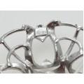 Broșă din argint elaborată în stil de inspirație Art Deco | anii '70