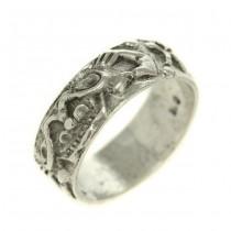 Inel modernist verighetă Etruscan Revival | Minotaurus | manufactură în argint | Italia