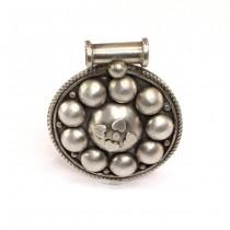 Impresionantă amuletă indiană din argint | Patri | perioadă British Raj | Rajasthan - India