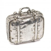 Cutiuță din argint inedit elabortă sub forma unei valize | manufactură în argint | Italia