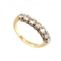 Inel victorian din aur 18k și platină decorat cu diamante naturale 0.70 CT | Marea Britanie | cca.1900