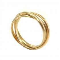 Inel Trinity din aur galben 14 K | manufactură | anii 2010