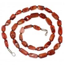Colier magrebian African Trade Beads decorat cu rare specimene de carnelian Idar-Oberstein și granate naturale | Maroc