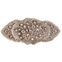 Pafta din argint decorată prin gravare manuală | Yogya | veche manufactură de atelier indonezian | cca.1935
