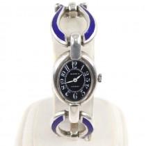 Ceas mid-century din argint emailat | Seaman's | montură de atelier milanez | cca.1965