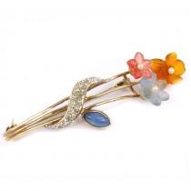 Broșă 80's rafinat elaborată sub forma unui buchet de flori | argint | atelier Filli Menegatti | Italia