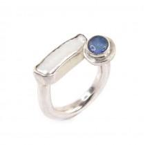 Inel statement contemporary decorat cu opal natural și perlă naturală de cultură | Franța
