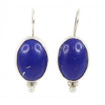 Cercei statement cu superbe anturaje de lapis lazuli afgan | manufactură în argint | India