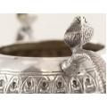 Bol ceremonial hindus din argint decorat în stil Kutch | British Raj | cca.1900