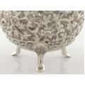 Cremieră și solniță pentru condimente, splendid manufacturate în argint | Kutch | British Raj | 1880 -1900