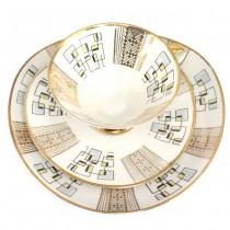 Set solitaire pentru ceai, cafea și deserturi | design Mid-Century | atelier Mitterteich Bavaria | anii '60