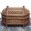 Impresionantă casetă victoriană pentru bijuterii | lemn traforat | cca. 1900 | Marea Britanie