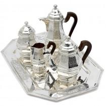 Serviciu Art Deco din argint pentru servirea ceaiului și a cafelei | atelier Hardy Frères - Liège | cca.1920 | Belgia