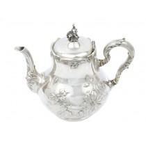 Ceainic Art Nouveau din argint cu aplicații de fildeș natural | atelier Bruckmann & Sohne | Germania | cca.1900