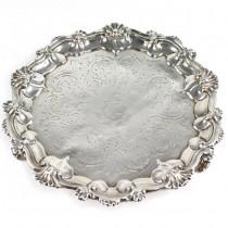 Tavă salver din argint decorată cu blazon heraldic al casei nobiliare Compton | atelier William Ker Reid | 1851 | Londra