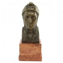 Sculptură în bronz Dante Alighieri | soclu de marmură Languedoc | sec. XIX | Franța
