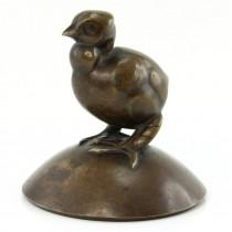 Sculptură în bronz Iosif Fekete Negrulea | Pui de găină | cca.1931 -1941