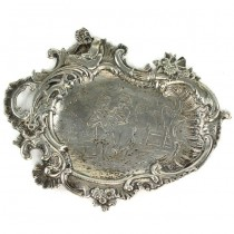 Vide-poche din argint în stil Rococo | atelier J.D. Schleissner & Söhne - Hanau | sec. XIX