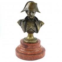 Sculptură în bronz Napoleon Bonaparte | soclu din marmură Languedoc | Franța | secol XIX