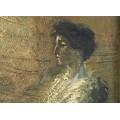 """Pictură Aurel Băeșu  """" Doamna Severin """"   ulei pe carton   1917   Iași"""