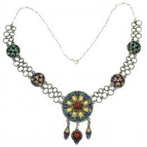 Vechi colier etnic magrebian | triburile Kabyle | argint emailat & coral natural | Algeria