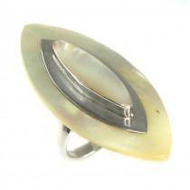 Elegant inel statement din argint decorat cu sidef natural | Thailanda