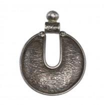 Inedită amuletă hindusă Yoni și Lingam | argint 925 | India - British Raj | 1940 -1960