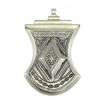 Opulentă amuletă pectorală tuaregă   manufactură în argint   Niger