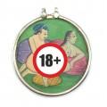 Veche amuletă Kamasutra | argint & pictură erotică în stil Mughal | India - Britisj Raj