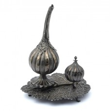 RAR : Garnitură besamim din argint pentru ceremonialul Havdalah | atelier otoman |  secol XIX