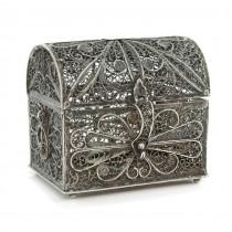 Veche casetă iudaică pentru mirodenii besamim | argint filigranat | cca.1900