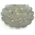 Farfurioară pentru delicatese manufacturată în argint filigranat  | Yemen | început de secol XX