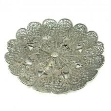 Farfurioară pentru delicatese manufacturată în argint filigranat    Yemen   început de secol XX